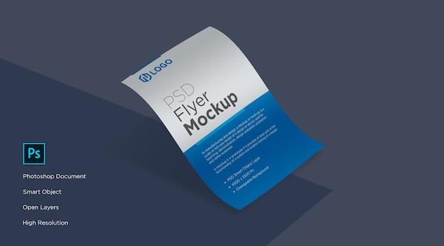 Curve flyer e poster mockup design