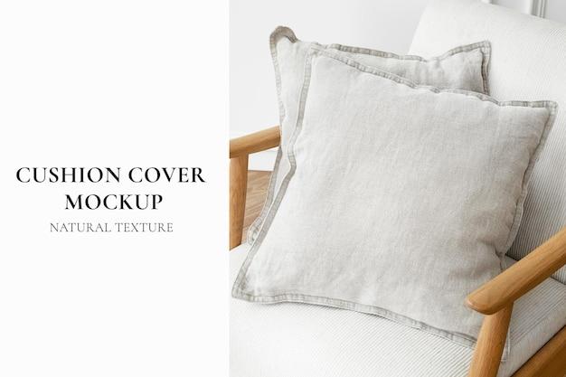 Fodera per cuscino mockup psd con design scandinavo