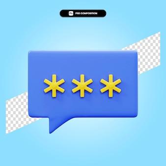 Recensione del cliente 3d rende l'illustrazione isolata