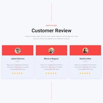 Sezione di revisione del cliente