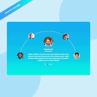 Interfaccia utente recensioni clienti