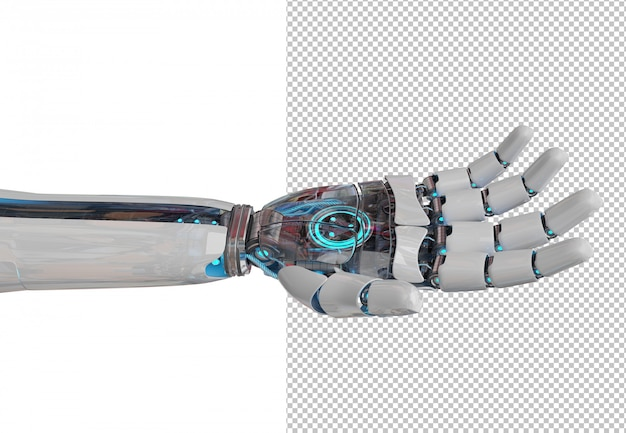 Tagliare la mano aperta del robot