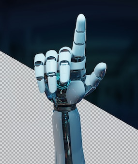 Tagliare il dito puntato della mano del robot