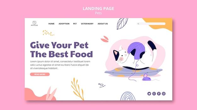 Pagina di destinazione per animali domestici carino