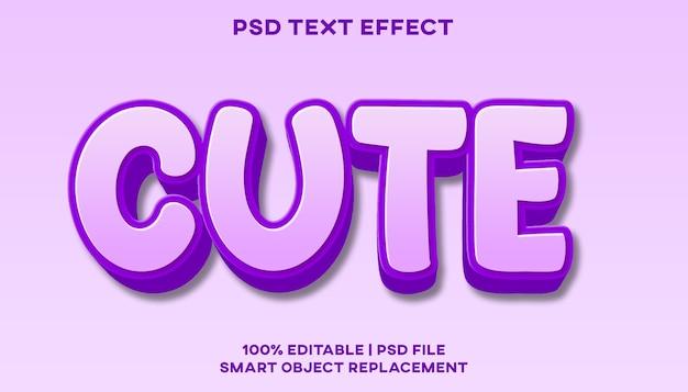 Modello di stile effetto testo carino