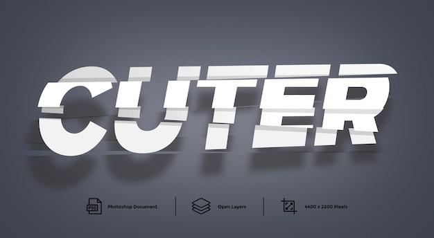 Cutter effetto testo effetto modello di disegno effetto stile