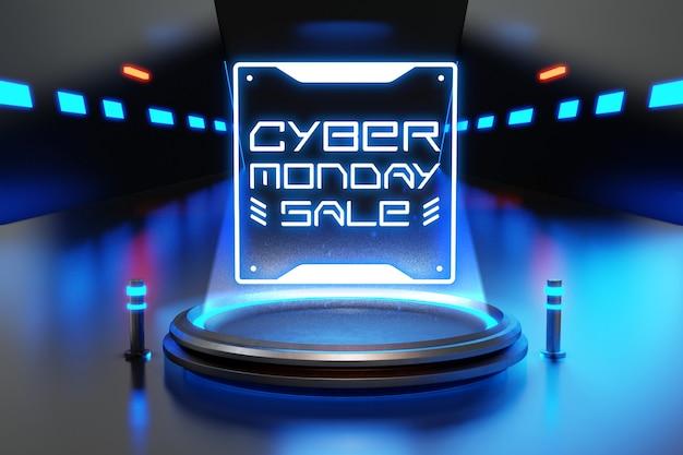 Mockup di vendita di cyber lunedì