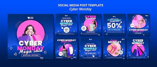 Post sui social media del cyber lunedì