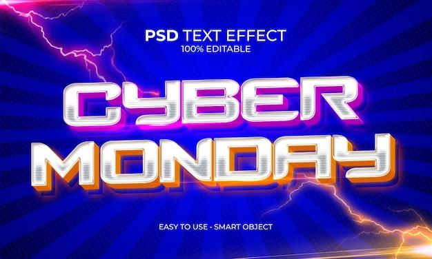 Effetto testo cyber monday