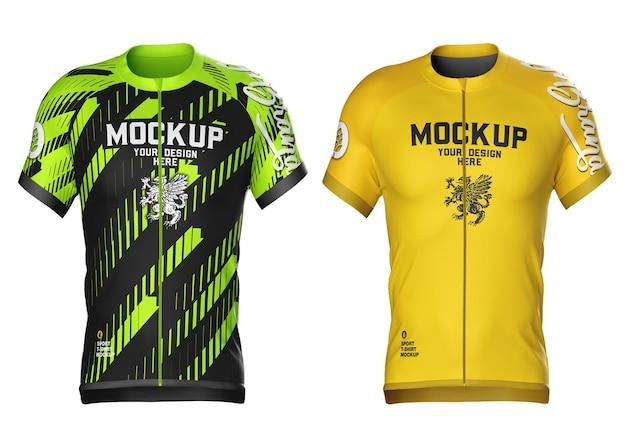 Mockup di maglia da ciclismo