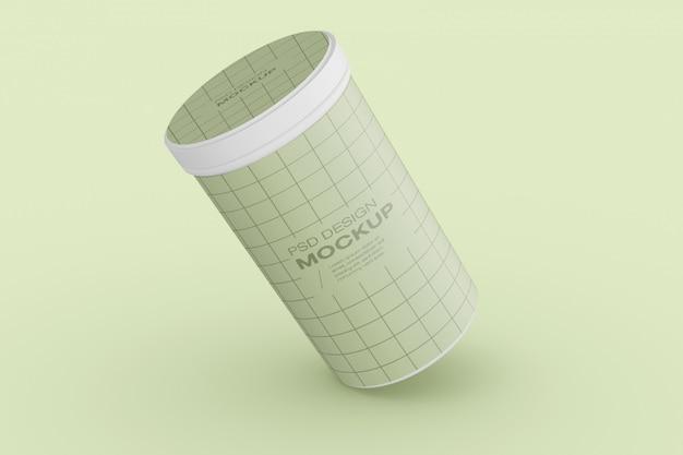 Mockup confezione cilindro