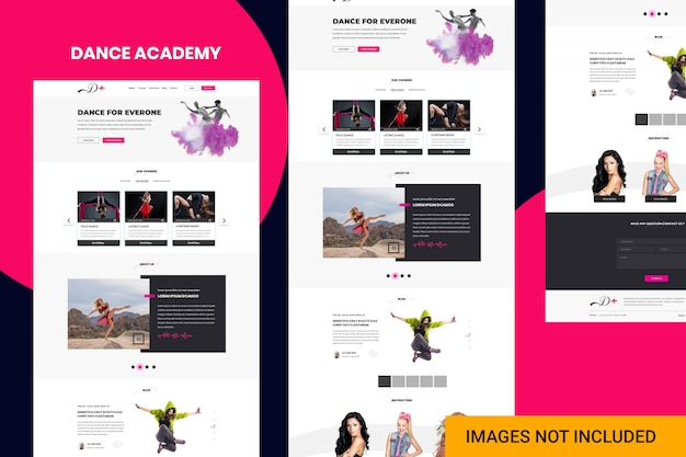 Sito web dell'accademia di danza