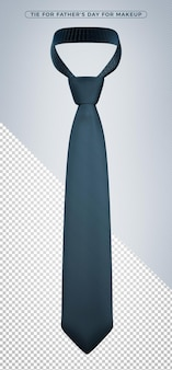 Rendering 3d cravatta blu scuro