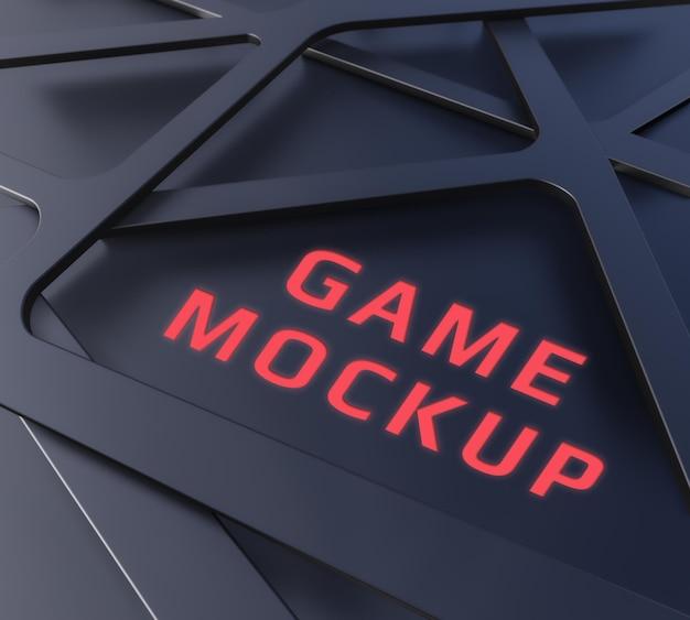 Mockup di gioco di forme scure