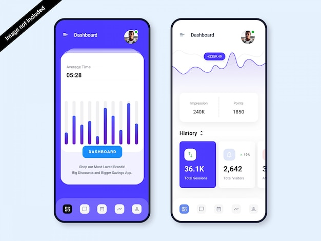 Dashboard app ui design