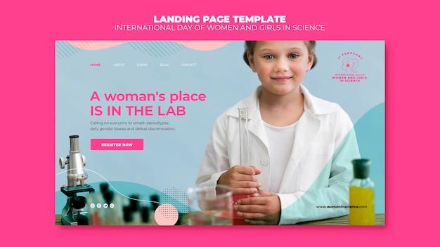 Pagina di destinazione della giornata delle donne e delle ragazze nella scienza
