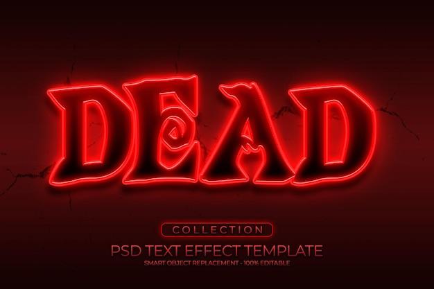 Effetto di testo personalizzato halloween horror morto