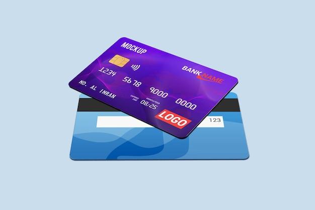 Rendering di mockup di carta di debito isolato
