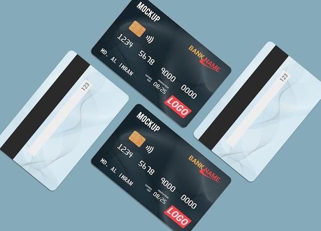 Progettazione di mockup di smart card con carta di debito