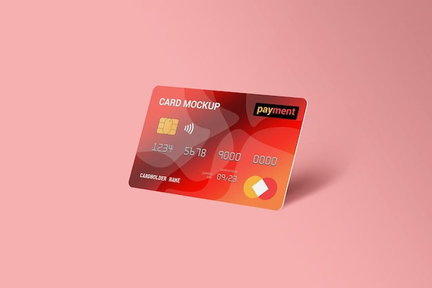 Carta di debito smart card mockup di carta in plastica