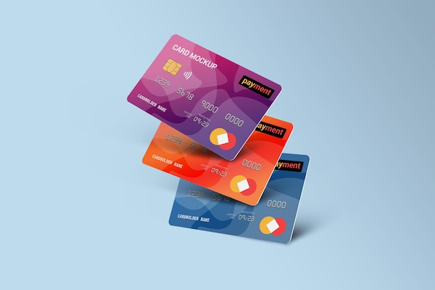 Carta di debito smart card mockup di carta in plastica Psd Premium