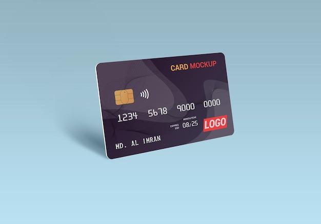 Mockup di carta di plastica smart card con carta di debito