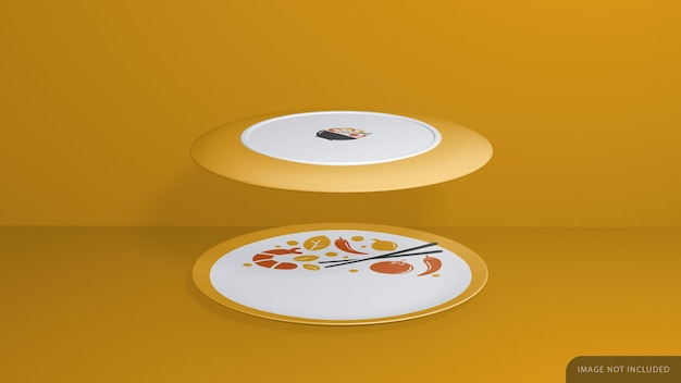 Mockup di piatto decorato