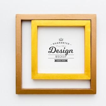 Concetto di cornice decorativa mock-up Psd Premium