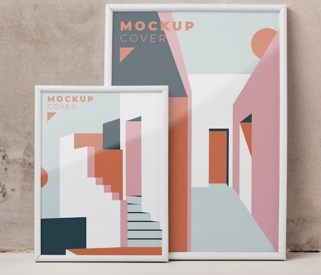Composizione di cornici decorative mock-up
