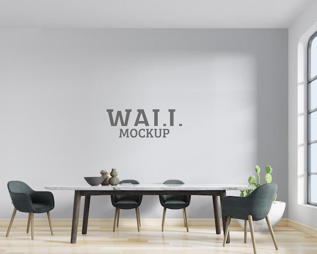 Spazio decorativo con mockup di pareti di mobili moderni