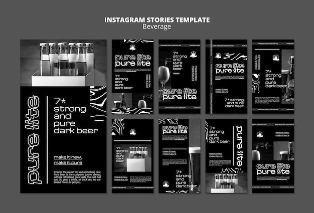 Deliziose storie sui social media delle bevande