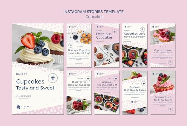 Deliziosi cupcakes storie sui social media
