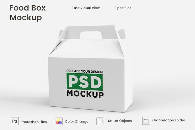 Consegna cibo scatola marrone mockup design