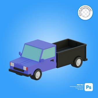 Consegna camioncino 3d oggetto isometrico