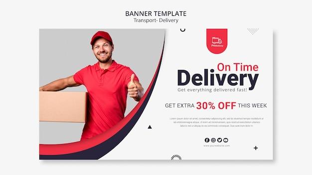 Modello di banner di servizio di consegna