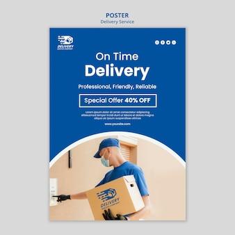 Poster di offerta di servizio di consegna