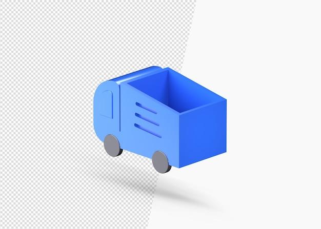 Icona 3d di camion o container di consegna