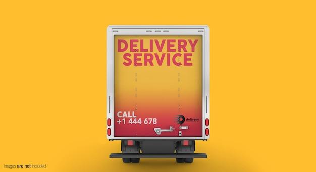 Mockup di camion di consegna vista posteriore