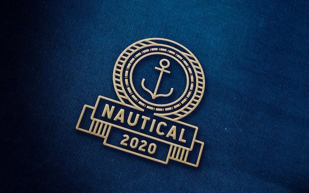 Mockup logo denim