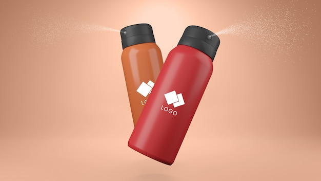 Deodorante spray mockup
