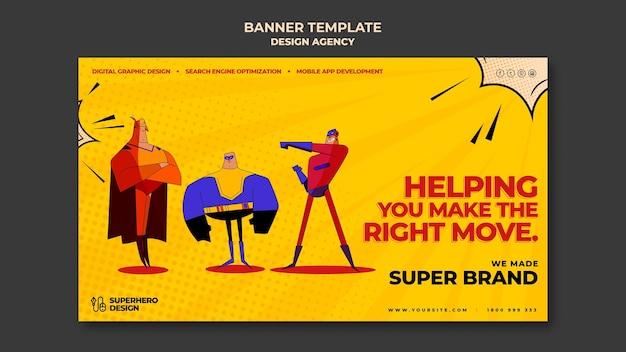 Modello di banner di agenzia di design