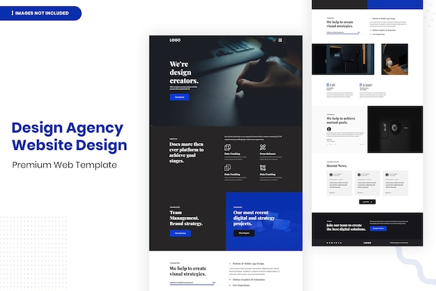 Modello di progettazione di siti web per agenzie di design