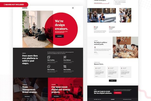 Pagina del sito web dei creatori di design