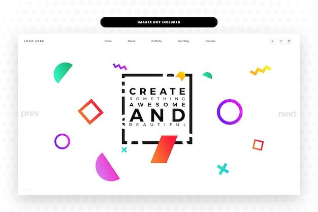 Modello di sito web del designer,