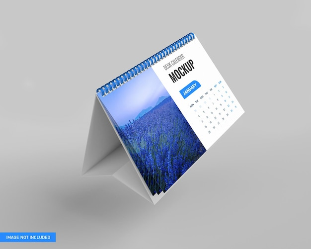 Calendario da tavolo mockup in rendering 3d