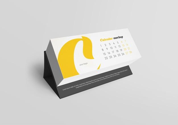 Mockup di calendario da tavolo