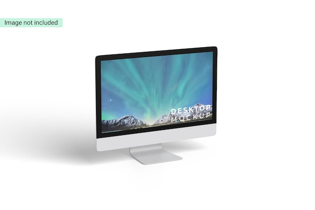 Design mockup desktop isolato