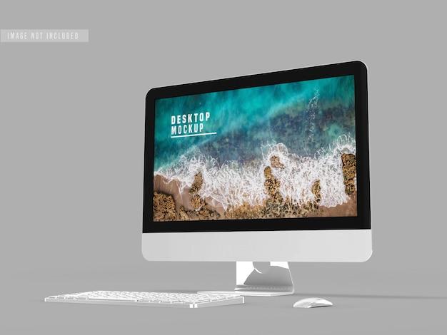 Modello di progettazione desktop mockup