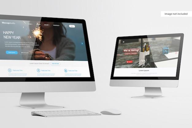 Mockup dello schermo del desktop