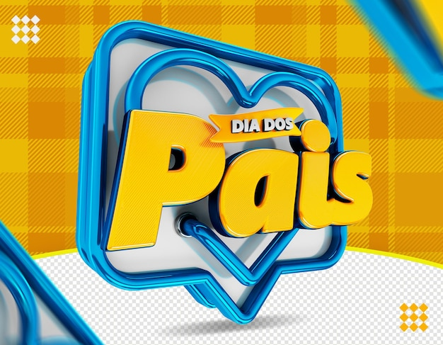 Logo dia dos pais logo della festa del papà